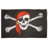 FL-051 Flag Skulls & Cross Bones1.5x0.9m
